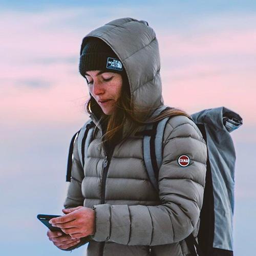 Capucine backpack MeroMero Down jacket