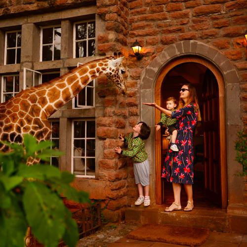 Famille Us Around The World Kenya girafe